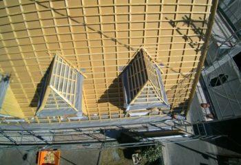 Construction couverture bois vue arienne 1