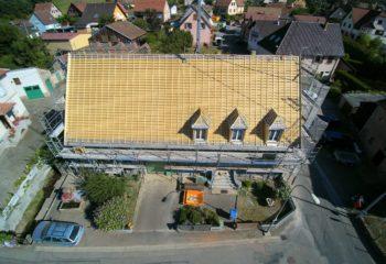 Construction couverture bois vue arienne 4
