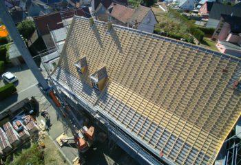 Construction couverture bois vue arienne 2