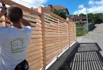 Construction palissade bois 1