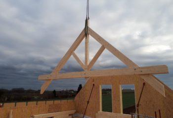 Construction charpente maison ossature bois