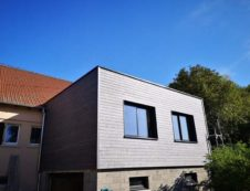 Extension en Ossature bois et bardage façade
